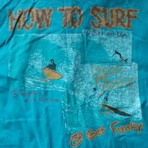 VTG 1980s Ocean Pacific Button down shirt surfing